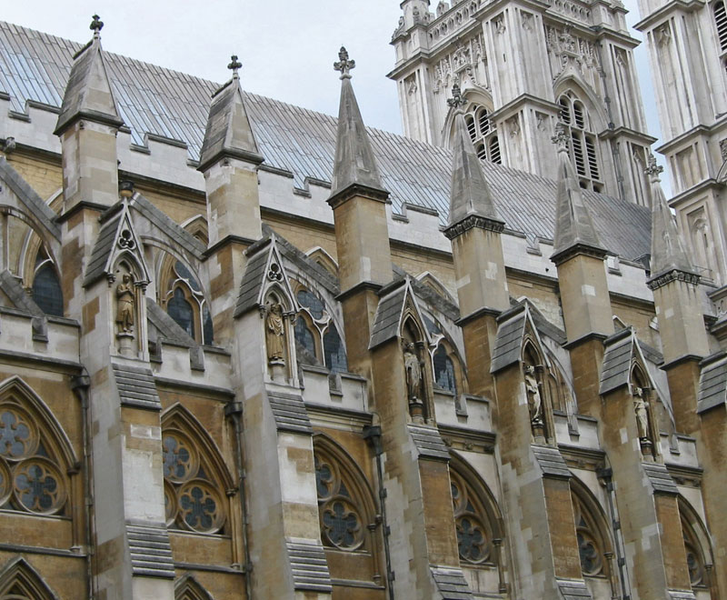 Flying Buttresses On Westminster Abbey