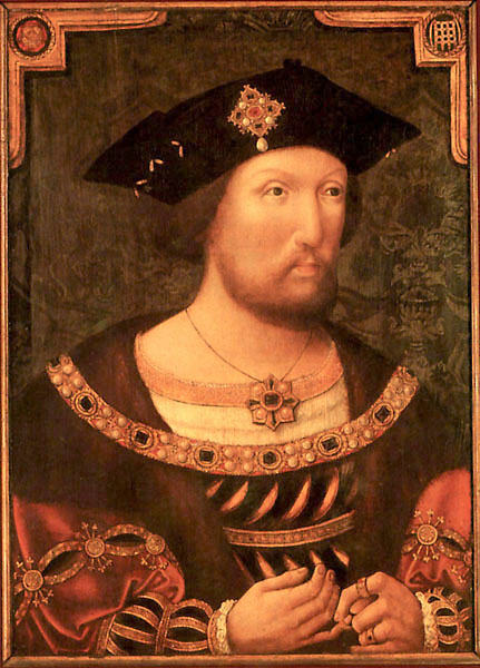 Henry VIII from about 1520. Painted by an unknown artist. Oil on panel ...